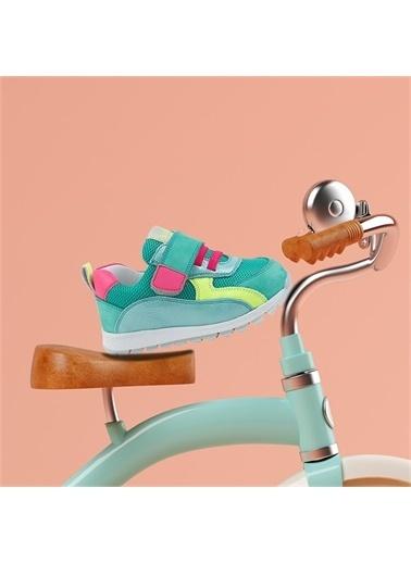 Kids A More Mignon Çift Cırtlı Deri Kız Bebek Sneaker  Yeşil